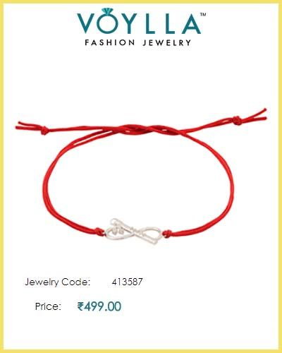 #Elegant #Gem #Studded #Silver #Rakhi  #Price : Rs. 499.00  #Jewelry_Code : 413587  #Material : 925 Sterling Silver