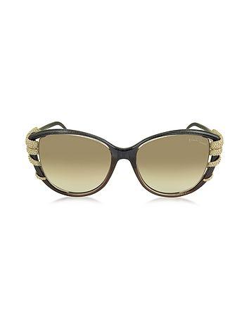 Roberto Cavalli - STEROPE 972S Acetate and Crystals Cat Eye Women's Sunglasses