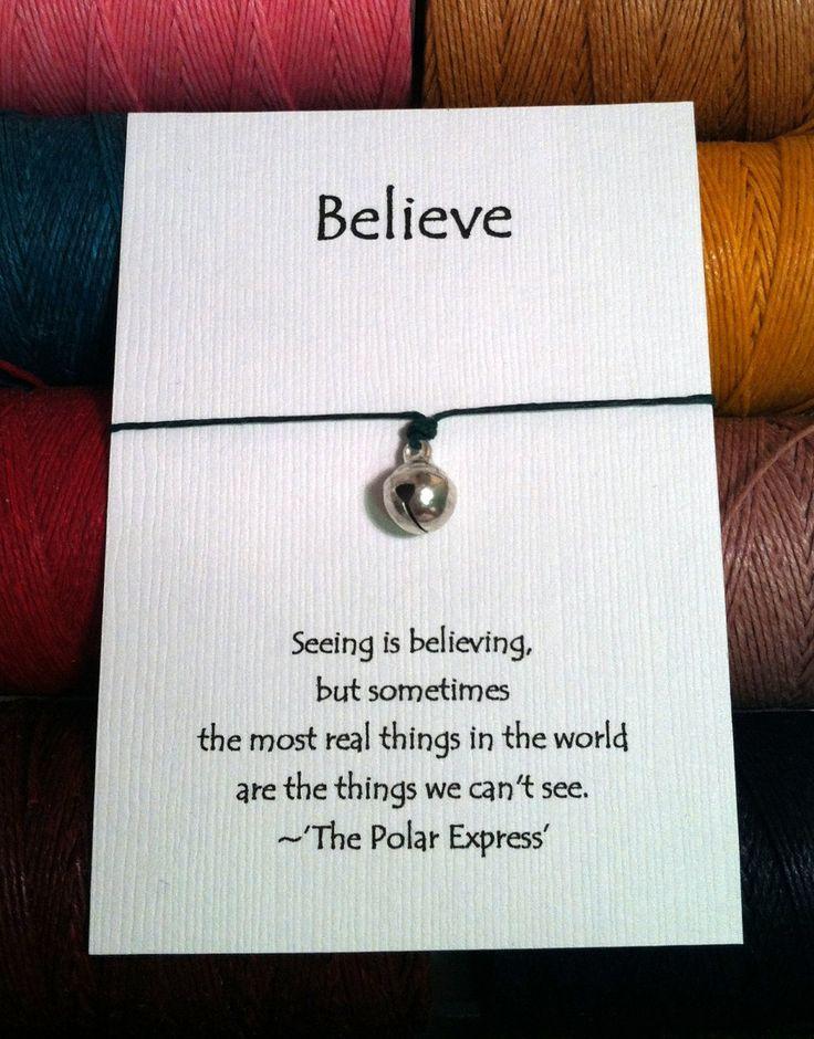 Polar Express Christmas Party Ideas Part - 45: Polar Express Believe Charm Wish Bracelet
