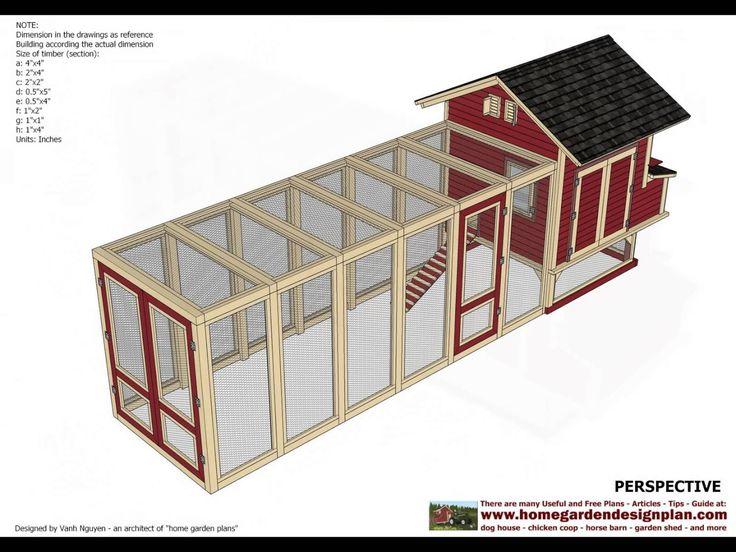 The 25 best chicken coop plans free ideas on pinterest for Maintenance free chicken coop