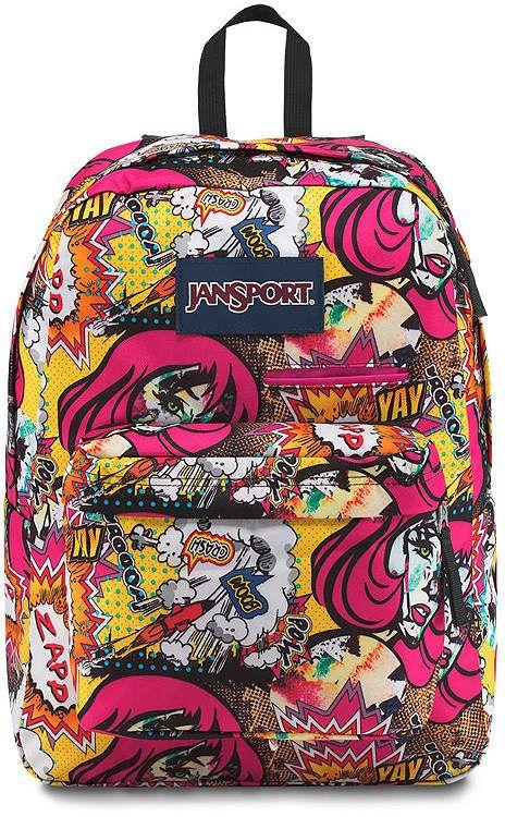 Jansport  backpack  graphicdesign  art  comic  style  fashion  graffiti   6c1b799ec27aa