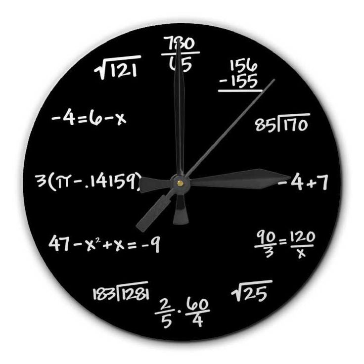 Mathematics Math Chalkboard Clock, 8 inch diameter - Perfect gift for math student, teacher, engineer, physicist by RipdNTorn on Etsy https://www.etsy.com/listing/126255276/mathematics-math-chalkboard-clock-8-inch