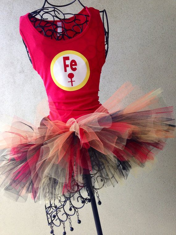 Avengers Running Costume: Iron Man Inspired Custom Racing Tank and Pixie Length (9 inch) Tutu on Etsy, $54.95