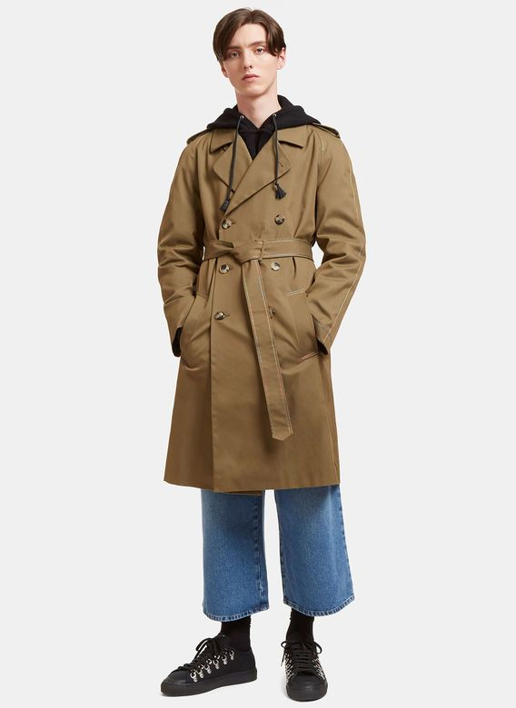 Men's Designer Coats - Clothing | Shop Now at LN-CC - Rainbow-Stitched Trench Coat