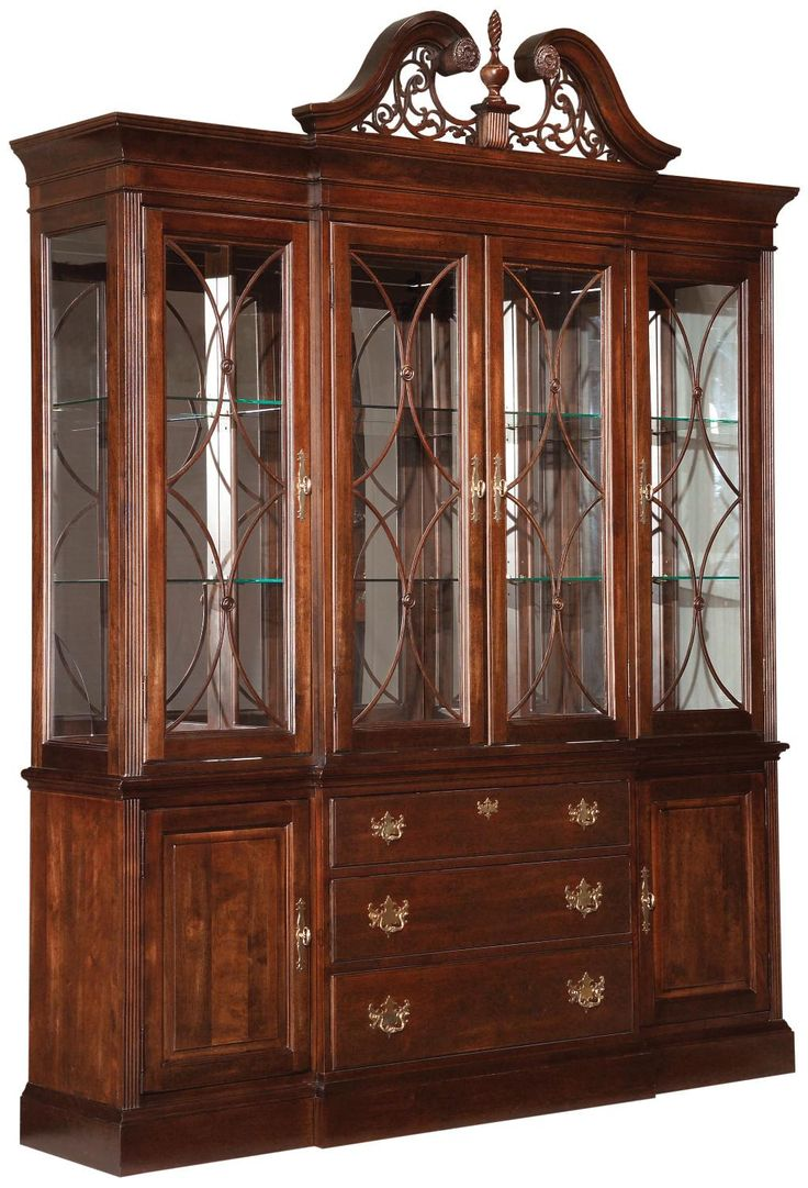 Furniture furthermore dining room china cabi ethan allen furniture on - Kincaid Furniture Carriage House Breakfront China Cabinet Knoxville Wholesale Furniture China Cabinet Knoxville Tennessee
