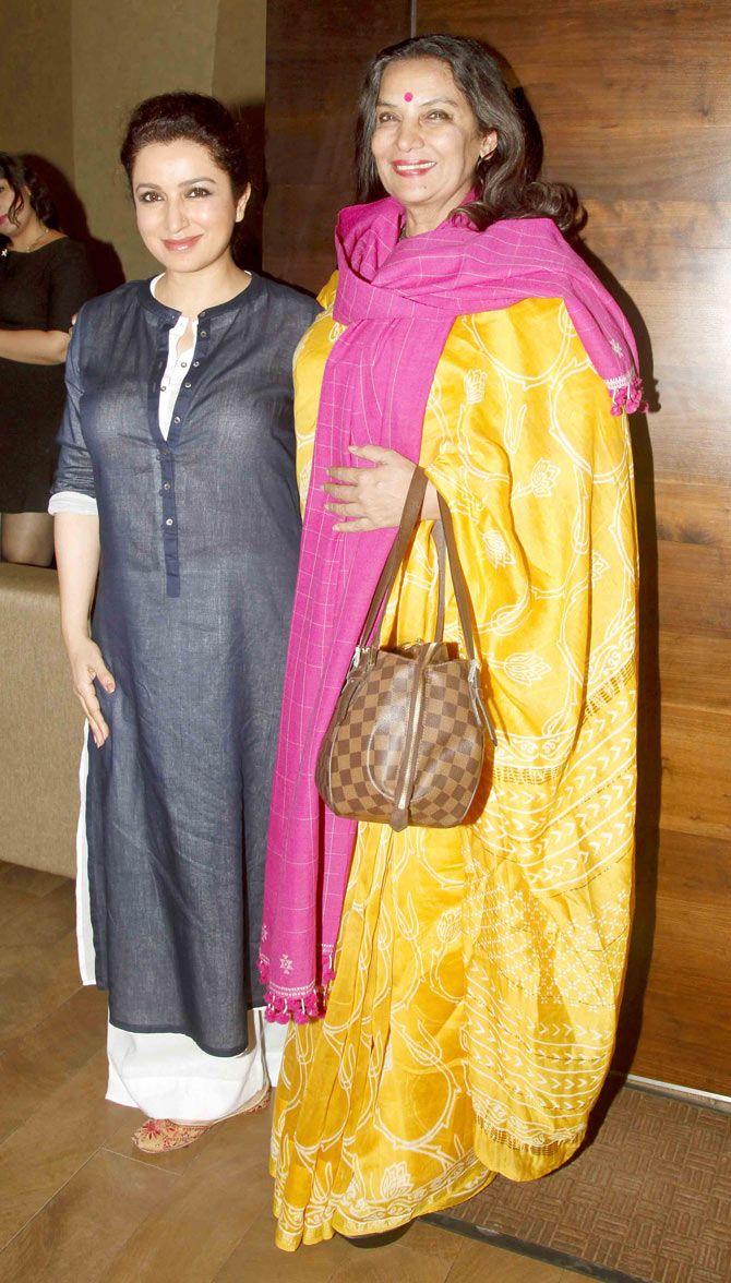 Tisca Chopra with Shabana Azmi at the special screening of 'Rahasya'.