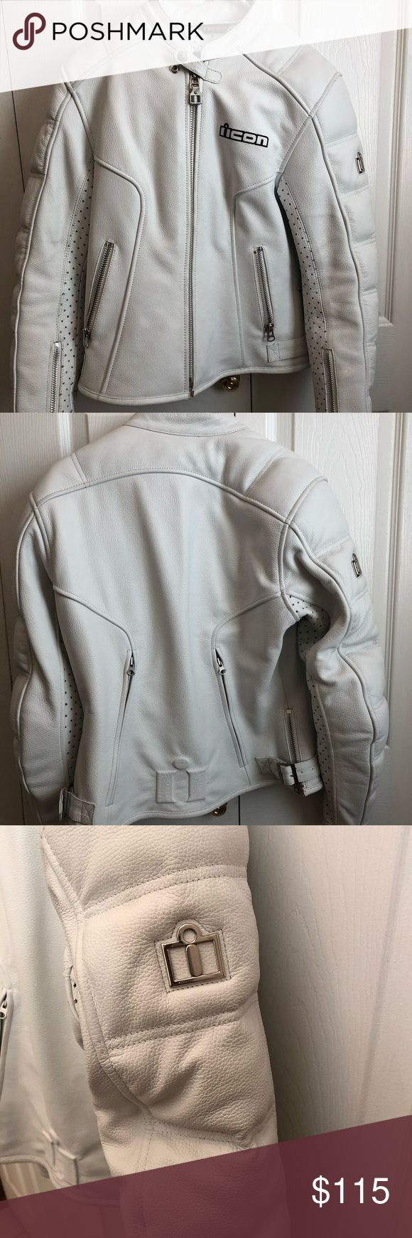 Women's leather motorcycle jacket Women's icon leather motorcycle jacket. Size small. Worn a few times and has been hanging in my closet for a few years. It's time someone puts it back on a bike. ICON Jackets & Coats