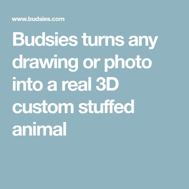Budsies turns any drawing or photo into a real 3D custom stuffed animal
