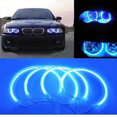Bmw 3 #series e46 non-projector blue led #angel eye ccfl ring #(2x131mm + 2x146mm,  View more on the LINK: http://www.zeppy.io/product/gb/2/391629362876/
