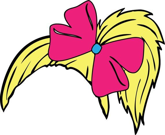 JoJo Siwa inspired side ponytail with bow  svg,  png, and