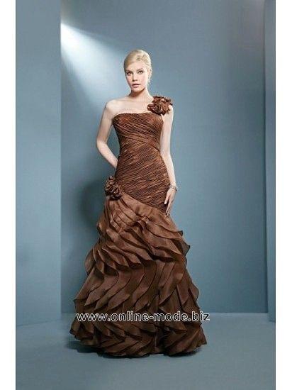 Diana Träger Abendkleid in Bronze Braun von www.online-mode.biz