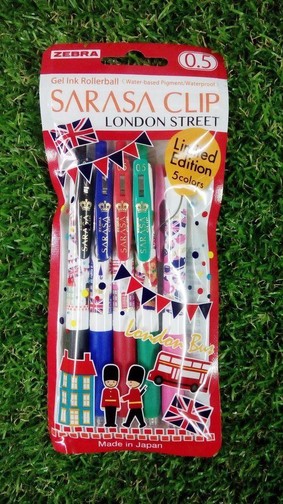 Free shipping Zebra SARASA 0.5X LONDON STREET roller ball pen 5 colors A #ZEBRA