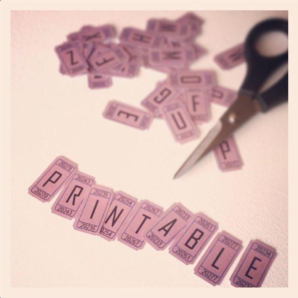 1000 idées sur le thème Alphabet À Imprimer sur Pinterest ...