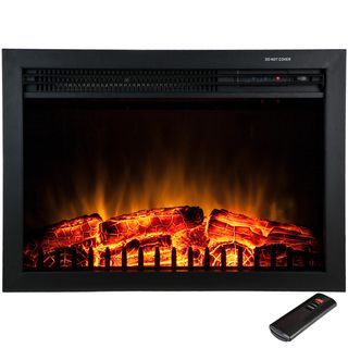 Overstock.com Mobile Use with airstone or cheap tile, faux mantel, make fake fireplace
