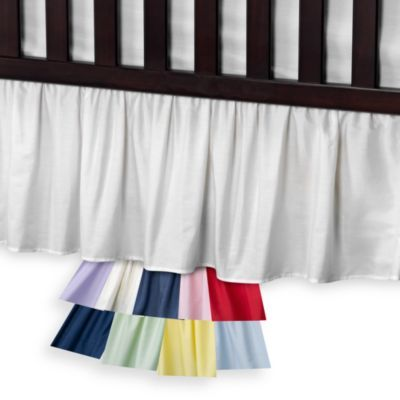 T. L. Care Cotton Percale Crib Bed Skirt - BedBathandBeyond.com Solid Pink Crib Skirt