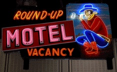 The Round-Up Motel in my home town, Claremore, OK