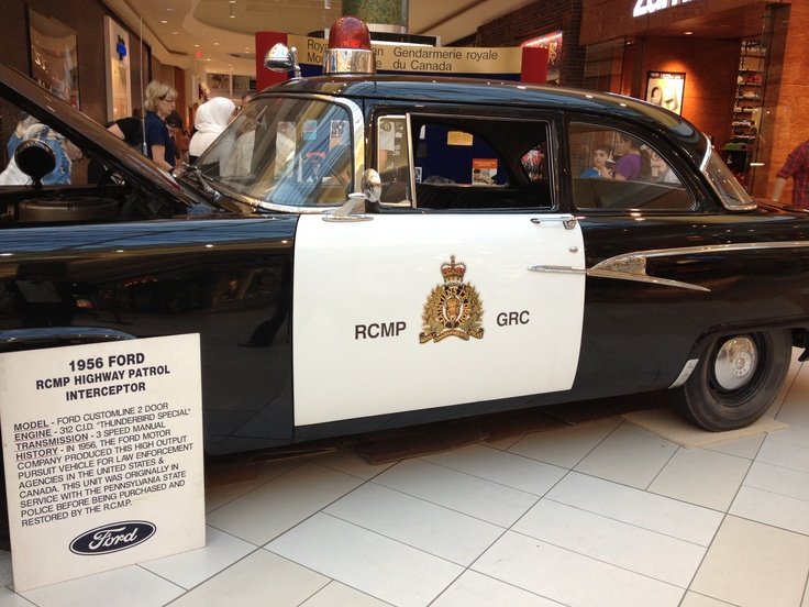 1956 Ford Rcmp Interceptor Hot Wheelz Cops Police