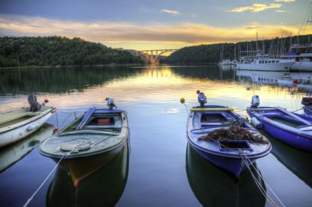 Foto Friday on Facebook: Boats Docked in the Skradin Harbour