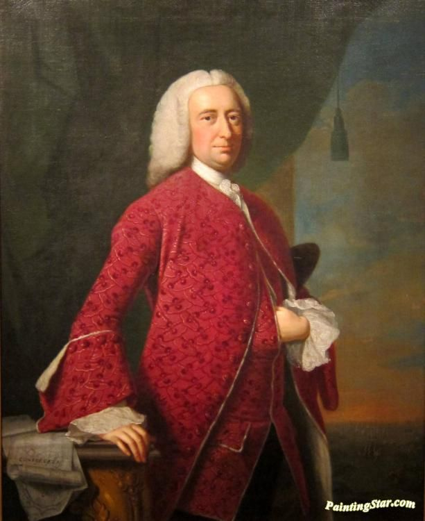 Portrait of william shirley(1694-1771) Artwork by Thomas Hudson Hand-painted and Art Prints on canvas for sale,you can custom the size and frame