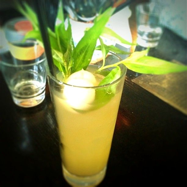 """""""For #laksasmackdown at Orient East have created a non alcoholic iced tea with lychee, lemongrass, ginger &; laksa leaf."""" By @Stickifingers"""