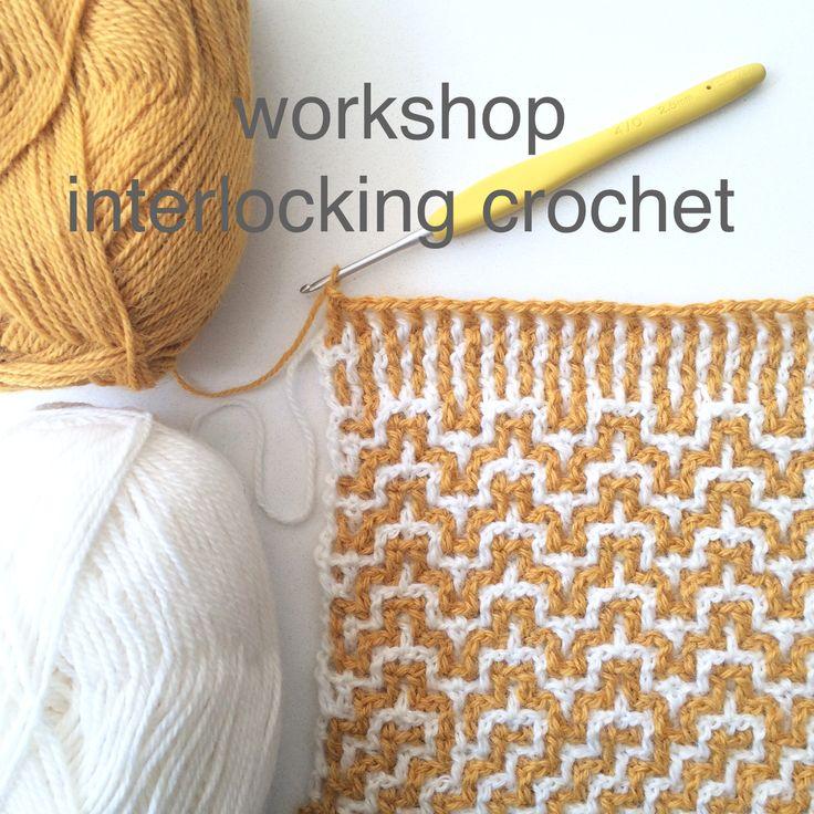 interlocking crochet, haken, workshop, echtstudio