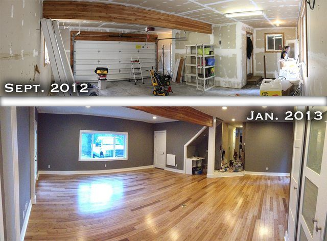 converted garage into a living room for the home pinterest. Black Bedroom Furniture Sets. Home Design Ideas