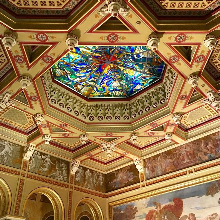 The ceiling of the Vigadó, Budapest.