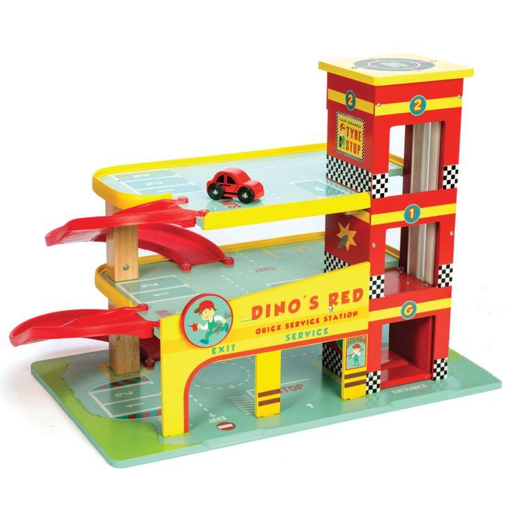 Garaje Dino de la colección Cars & Construction by Le Toy Van ¡Vroom! ¡Vroom!…