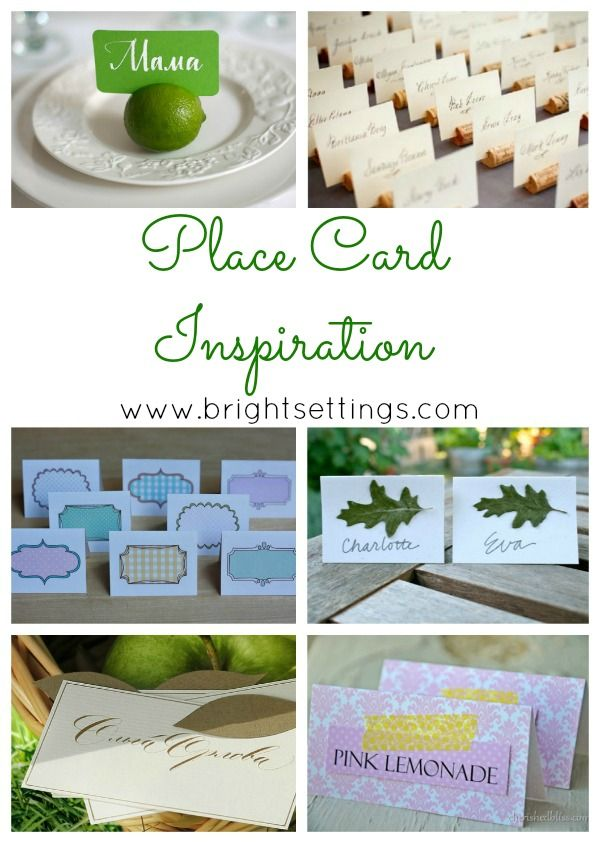 Place Cards: Get Inspired!