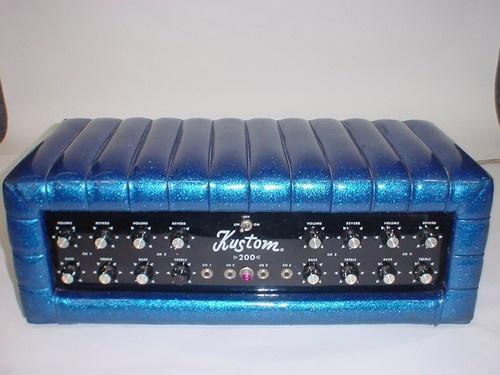 kustom k200 b5 k200 amp p a guitar amp head amp blue sparkle. Black Bedroom Furniture Sets. Home Design Ideas