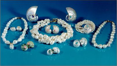 Helga Wagner Collection Exquisite & Elegant Pearl, Coral & Shell Jewelry