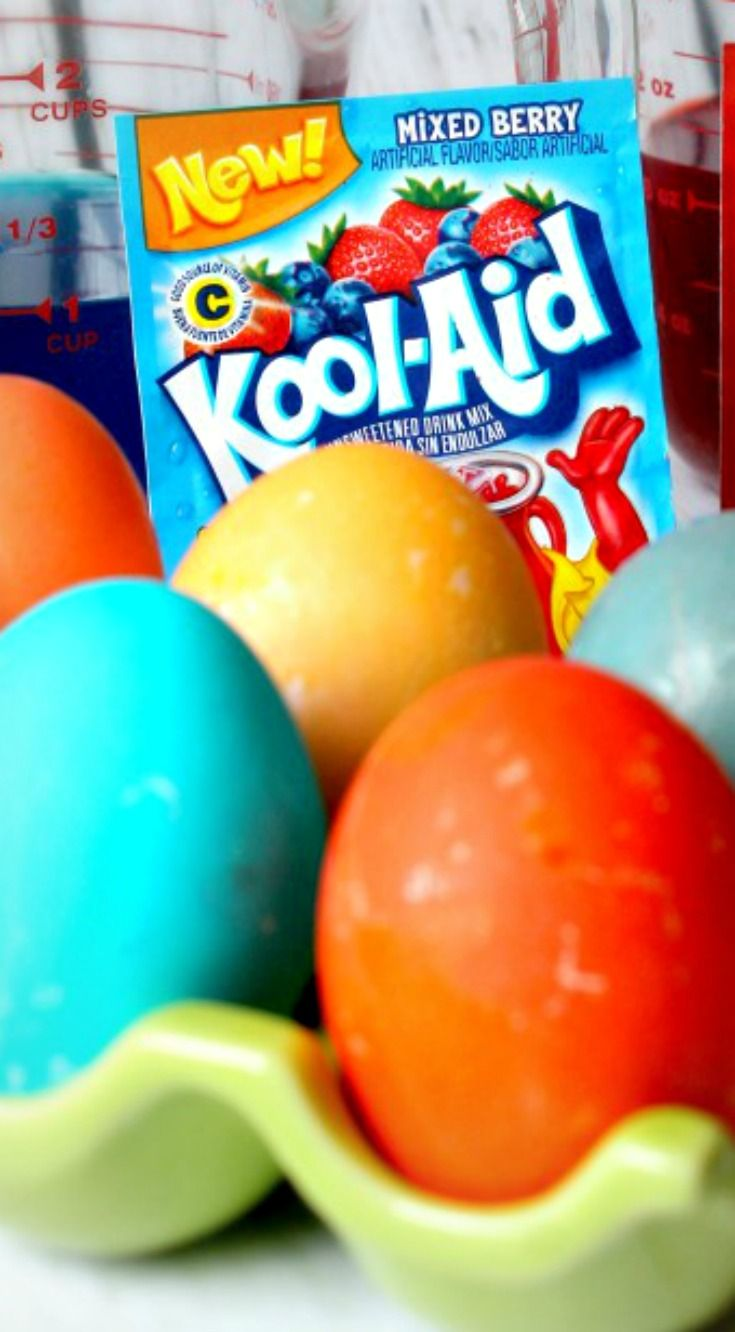 How to Dye Easter Eggs with Kool Aid
