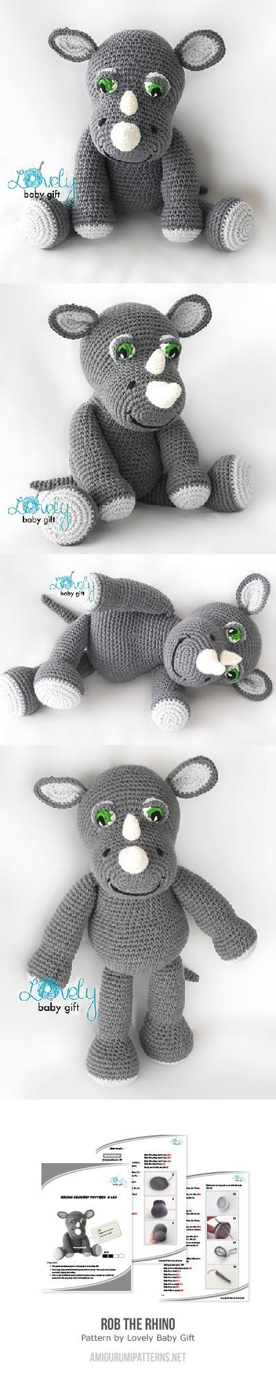 Same as a rhino - just add a horn - Found at Amigurumipatterns.net