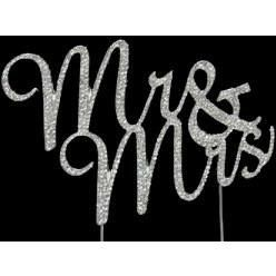 Extra Large Monogram Silver Rhinestone Letter S Cake Topper