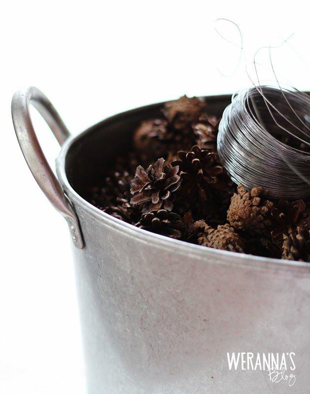 WERANNA'S: DIY Cone garland - Tee-se-itse käpykoriste