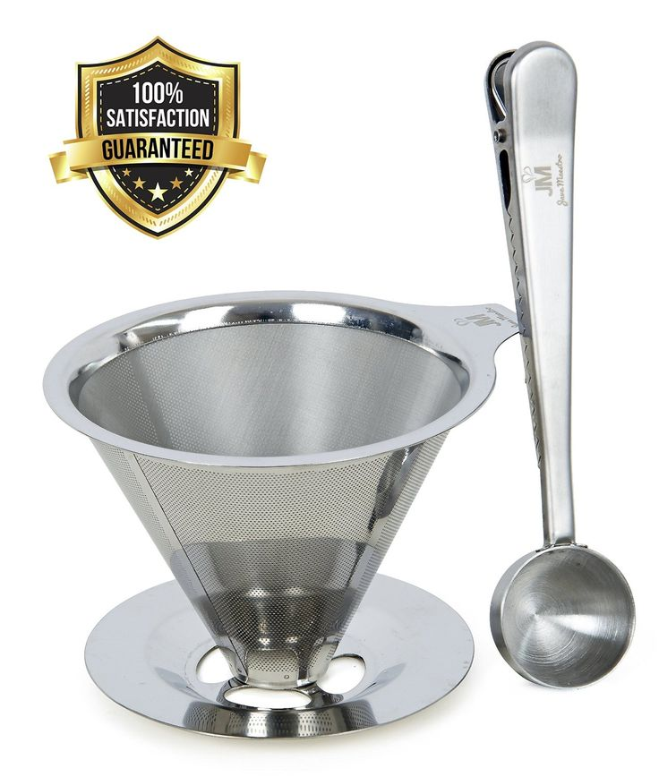 Pour Over Coffee Filter - Enjoy A Barista Quality Coffee At Home - FREE STAINLESS STEEL SCOOP & BAG CLIP - Reusable & Eco-friendly - Pour Over Coffee Dripper by Java Maestro - Money Back Guarantee: Amazon.co.uk: Kitchen & Home