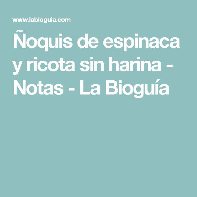 Ñoquis de espinaca y ricota sin harina  - Notas - La Bioguía
