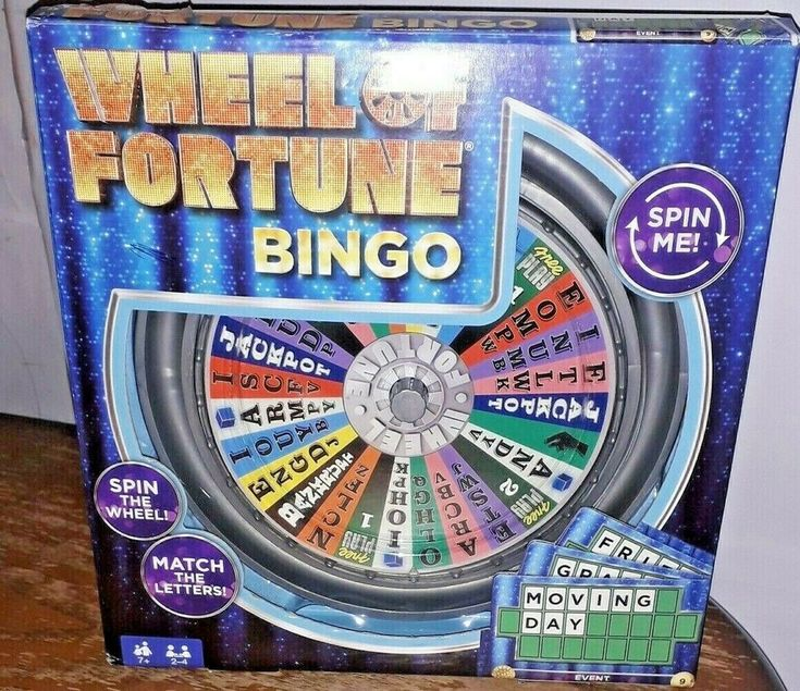 WHEEL OF FORTUNE BINGO BOARD GAME BY MATTEL 100 COMPLETE