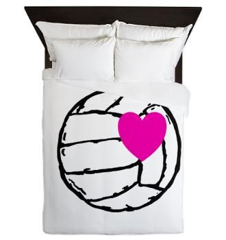 Volleyball Love Queen Duvet. I really really want this!