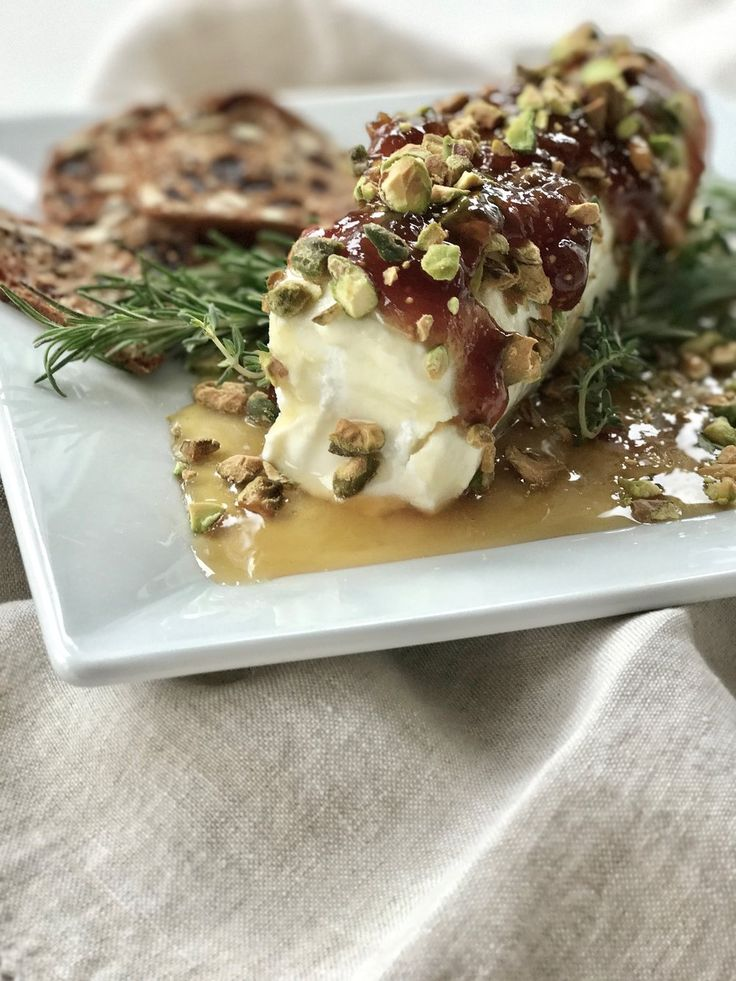 Needing a quick appetizer? When I say quick, I mean like 5 minutes. It's  one of my favorites to bring and serve at any gathering. People look  forward to it. As a matter of fact I brought this last night to the 7th  Grade Moms Night and it was a HUGE hit! Just 4 simple ingredients. Creamy  goat cheese, topped with roasted pistachios and drowned in sweet honey and  savory fig jam. Oh man, soooooooooo good. It also looks super fancy and is  sure to be the talk of the party. They'll be ...