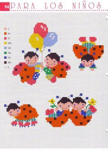 Schema punto croce Coccinelle Baby1