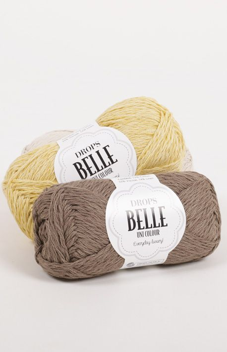 #DROPSBelle, everyday luxury in 53% Cotton, 33% Viscose, 14% Linen and 16 gorgeous colours #knitting #crochet