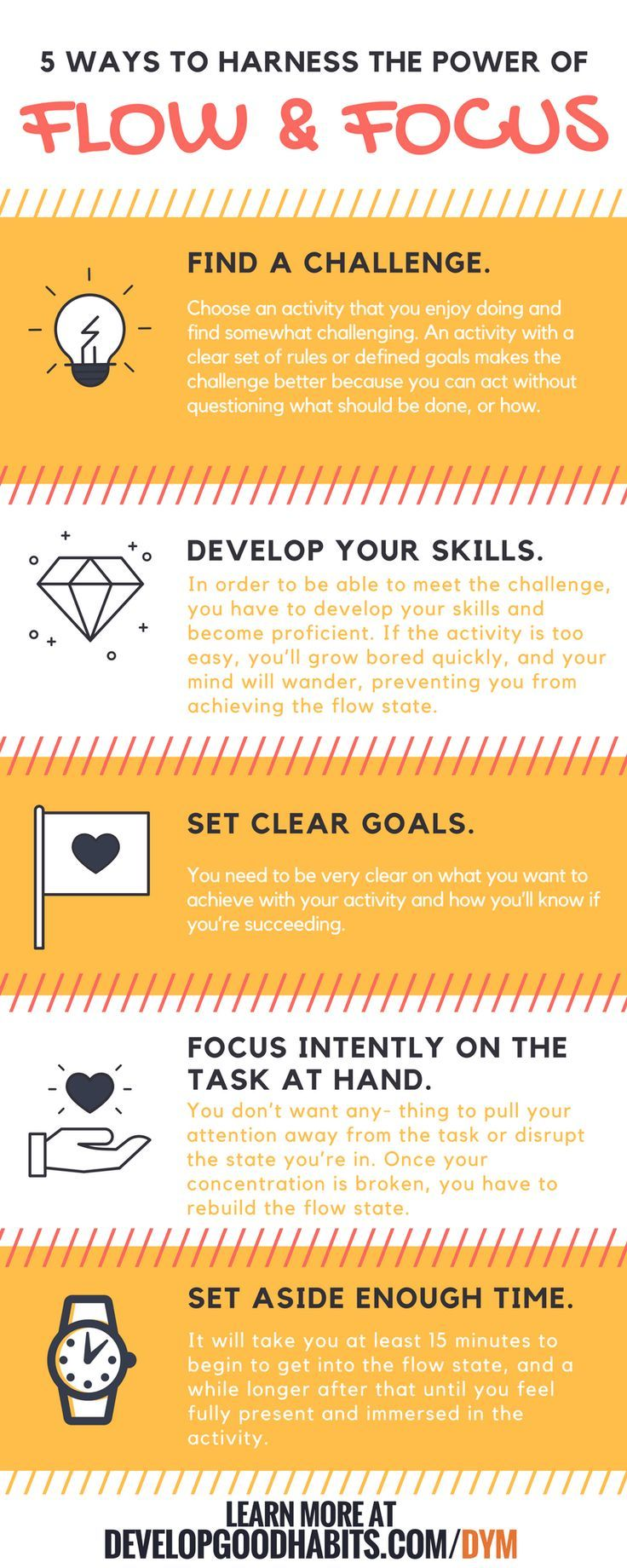 Flow and focus to get things done. | Productivity | GTD | Success | Mental organization http://www.developgoodhabits.com/declutter-your-mind/