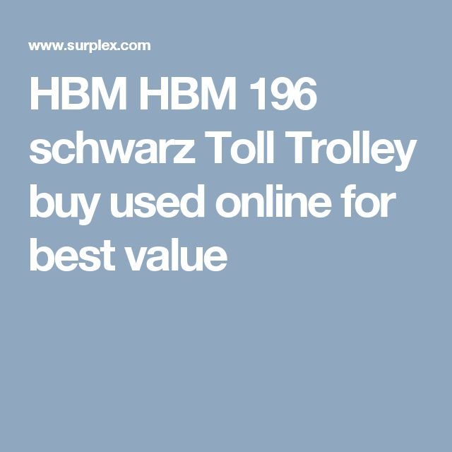 HBM HBM 196 schwarz Toll Trolley buy used online for best value