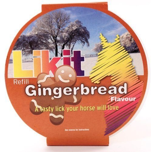 Likit Refill for Horse, Color: Gingerbread , Size: STANDARD by Talisker Bay. $8.55. GingerbreadStandardHorse Feed Supplements at The Pet Supply CompanyIngredients: Starch Molasses, Cane Molasses, Dextrose Monohydrate, Potassium Sorbate (e202), And Flavoring.Naturally Flavored, Glucose Based Treat For Horses.Fortified With Vitamin E And Biotin.Designed As A Tasty Treat, As Well As To Provide Entertainment And Stress Relief.All items are brand new, never worn and never used. We...