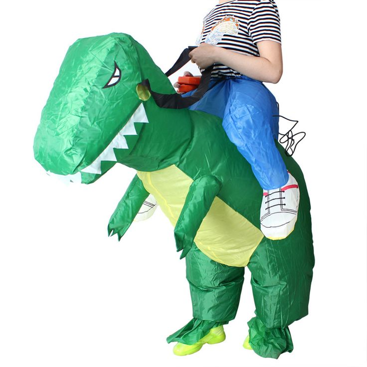 NEW Adult/Kids Inflatable T-Rex Dinosaur Halloween Costume Fancy Dress Outfit Suit Free Shipping