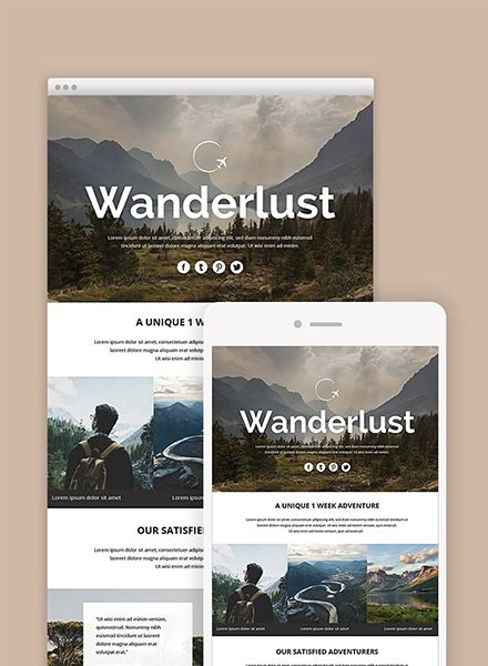 Free Travel Email Newsletter WEB Newsletter templates