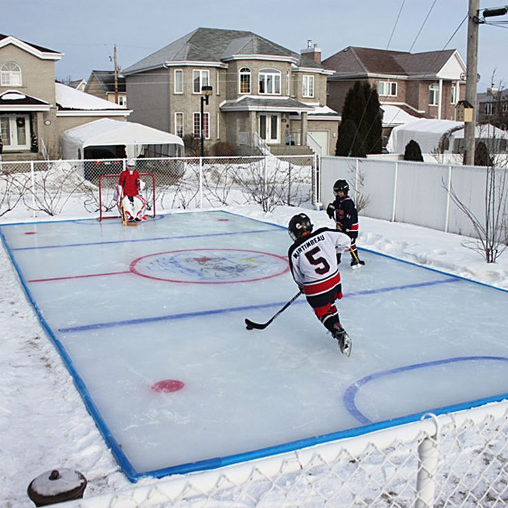 hockey rink in backyard