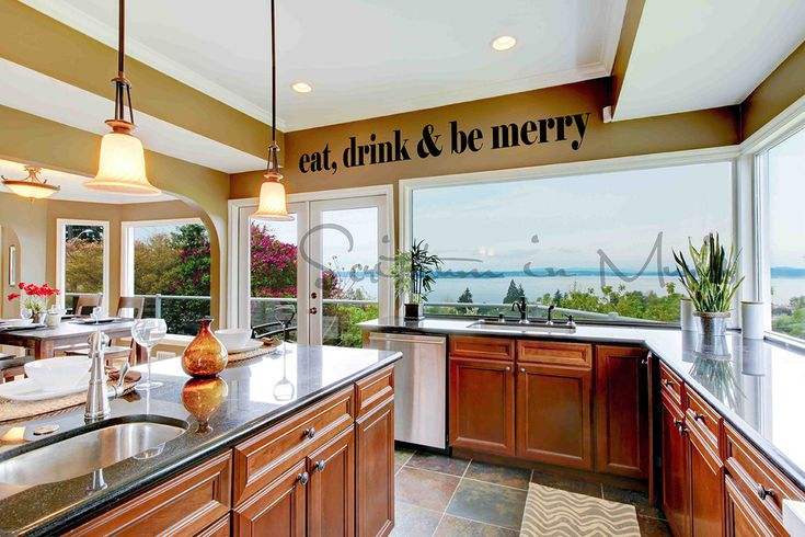 Eat Drink & Be Merry Dining Room or Kitchen Vinyl Decal