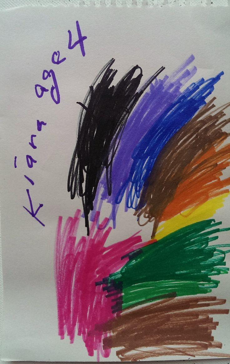 Rainbow Artist: Kiara, Age 4